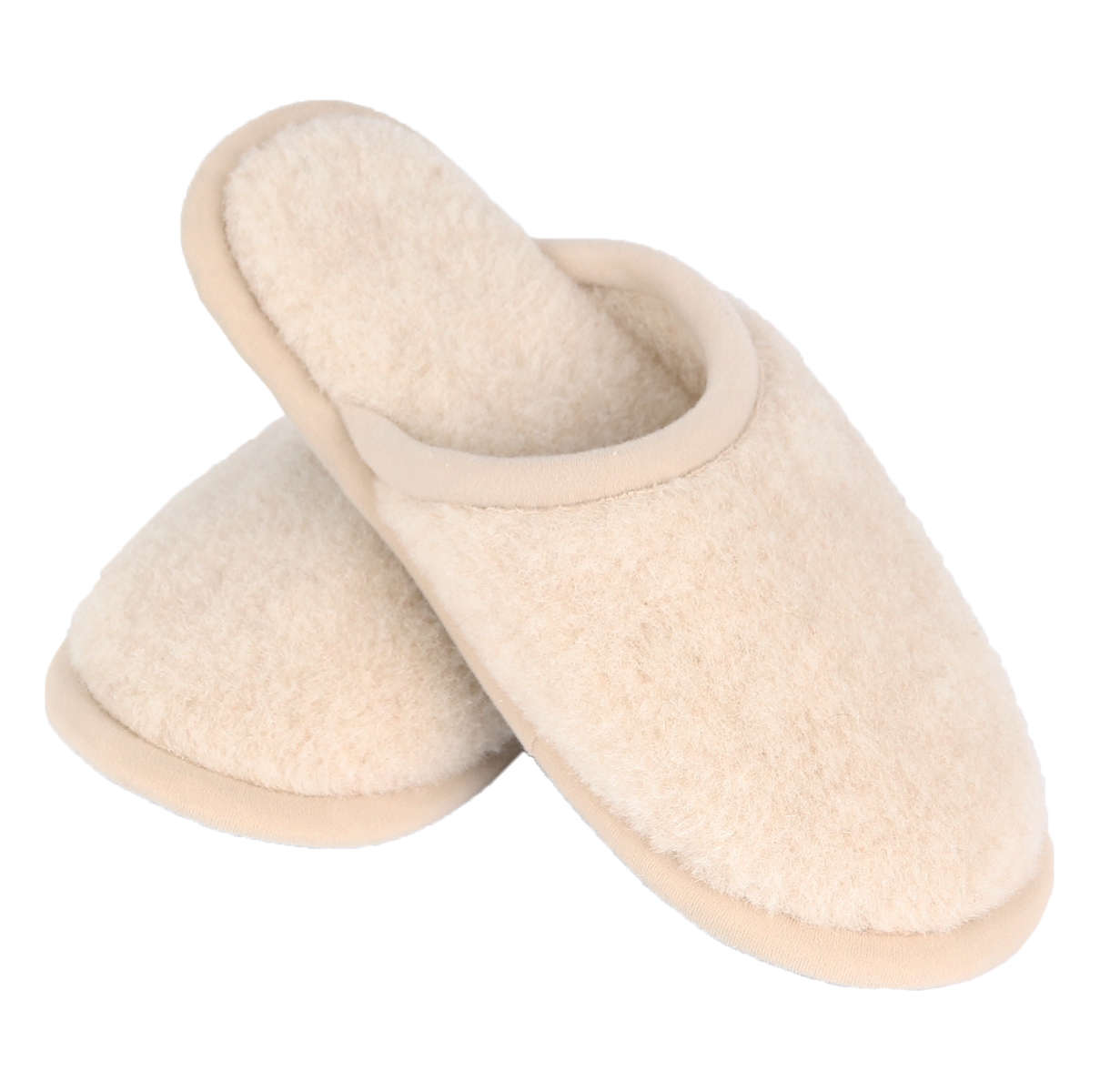 slippers in camel wol bronskleurig