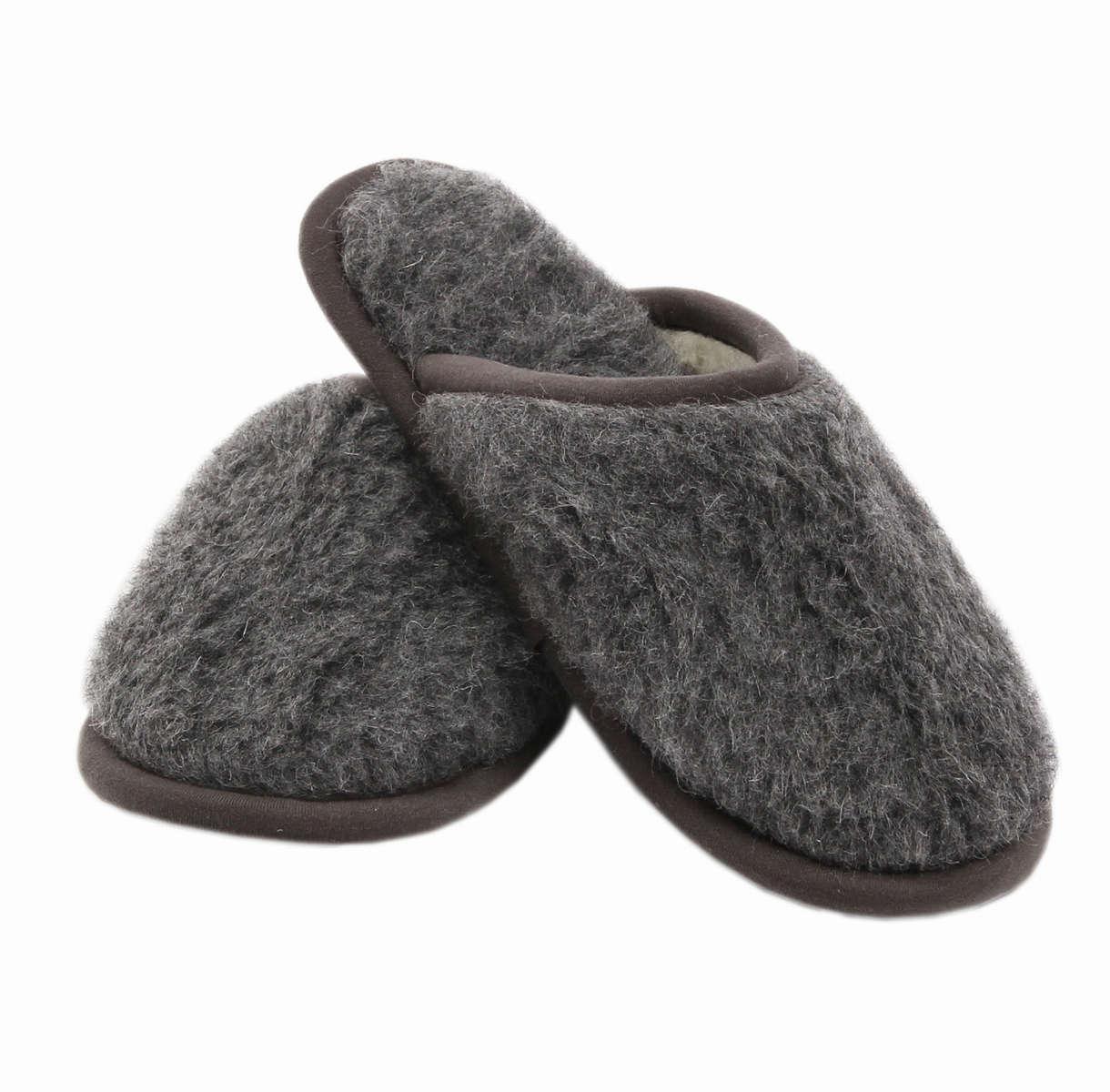 Comfortabele slippers van merinowol